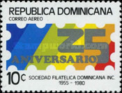 [Airmail - The 25th Anniversary of Dominican Philatelic Society, Typ ABH]