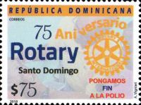 [The 75th Anniversary of Rotary Santo Domingo, Typ CCO]
