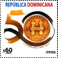 [The 50th Anniversary of the Dominican Republic Numismatic Society, Typ CGB]