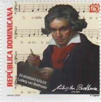 [The 250th Anniversary of the Birth of Ludwig van Beethoven, 1770-1827, type CKI]