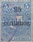 [Issues of 1880 Surcharged, type G2]