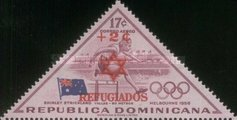 [Airmail - U.N. Relief and Works Agency for Palestine Refugee - Issues of 1957 Surcharged - For Jewish Refugees - Star of David and REFUGIADOS, Typ JM]