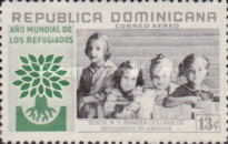 """[Airmail - World Refugee Year - Inscribed """"ANO MUNDIAL DE LOS REFUGIADOS"""", type LD1]"""