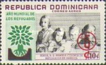 [Airmail - World Refugee Year Fund - Issue of 1960 Surcharged, type LH]