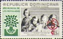 [Airmail - World Refugee Year Fund - Issue of 1960 Surcharged, type LI]