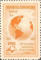 [The 50th Anniversary of Postal Union of the Americas and Spain, Typ MO1]