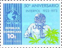 [Airmail - The 50th Anniversary of International Criminal Police Organization (Interpol), Typ TL]