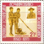 [Airmail - The 50th Anniversary of Dominican Boy Scouts, Typ TX]