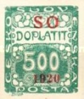 [Czeshoslovakian Postage Due Stamps Overprinted