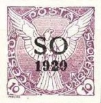 [Czeshoslovakian Newspaper Stamps Overprinted