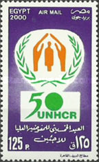 [Airmail - The 50th Anniversary of United Nations High Commission for Refugees, type APS]