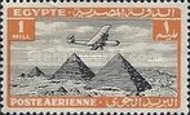 [Airmail - Airplane over Pyramids of Giza, type BK]