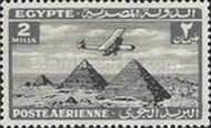 [Airmail - Airplane over Pyramids of Giza, type BK1]