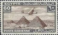 [Airmail - Airplane over Pyramids of Giza, type BK14]