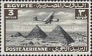 [Airmail - Airplane over Pyramids of Giza, type BK2]