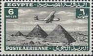 [Airmail - Airplane over Pyramids of Giza, type BK5]