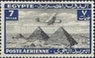 [Airmail - Airplane over Pyramids of Giza, type BK6]