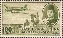 [Airmail - Nile Dam and King Farouk, Typ DH10]