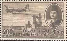 [Airmail - Nile Dam and King Farouk, type DH11]