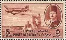 [Airmail - Nile Dam and King Farouk, type DH2]