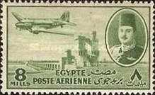 [Airmail - Nile Dam and King Farouk, Typ DH4]
