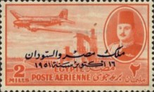 [Airmail - Nile Dam and King Farouk, Typ DH48]