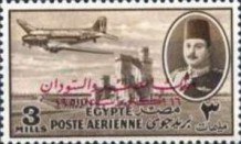 [Airmail - Nile Dam and King Farouk, Typ DH49]