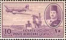[Airmail - Nile Dam and King Farouk, type DH5]