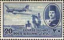 [Airmail - Nile Dam and King Farouk, type DH6]