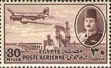 [Airmail - Nile Dam and King Farouk, type DH7]