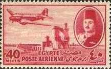 [Airmail - Nile Dam and King Farouk, type DH8]