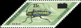 [Airmail - Insects Stamps of 1970 Surcharged, Typ KR1]