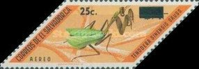 [Airmail - Insects Stamps of 1970 Surcharged, Typ KS1]
