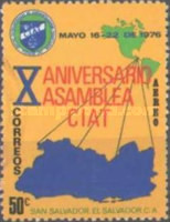 [Airmail - The 10th Anniversary of Central Inter-American Tax-Collectors Association, Typ OB1]