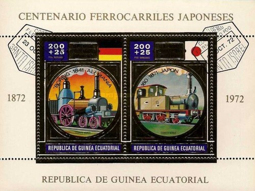 [Airmail - The 100th Anniversary of Japanese Railways - Gold, type ]