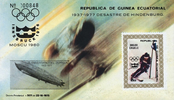 [Airmail - The 75th Anniversary of Zeppelin - Stamp of 1976 Overprinted, тип ]