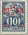 [Stamps of 1922-1925 Surcharged in Red or Black, Typ AB2]