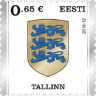 [Definitive Stamp - Coat of Arms of Tallinn, Typ BAO]