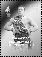 [First Estonian Olympic Medal Winner, Alfred Neuland, 1895-1966, type BDG]