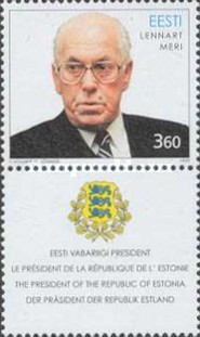 [The 70th Anniversary of the Birth of Lennart Meri - Estonian President, Typ GX]
