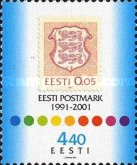 [The 10th Anniversary of the Rebirth Estonian Postage Stamps, Typ JF]