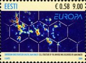 [EUROPA Stamps - Astronomy - Cell Structure of the Universe discovered by Jaan Einasto, Typ RL]
