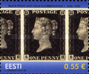 [The 175th Anniversary of the World's First Postage Stamp - One Penny Black, Typ YV]