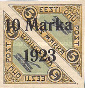 [Pairs of No. 30 Overprinted New Values, type ZAD3]