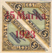 [Pairs of No. 30 Overprinted New Values, type ZAD5]