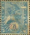 [Issues of 1894 Surcharged in French Currency, type H2]