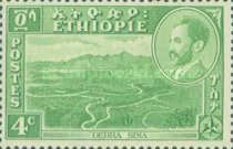 [Views with Medallion Portrait of Haile Selassie Inset, type IC]