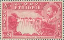 [Views with Medallion Portrait of Haile Selassie Inset, type IJ]