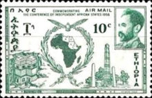 [Airmail - Conference of Independent African States, Accra, Typ LL]