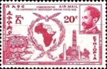 [Airmail - Conference of Independent African States, Accra, Typ LL1]